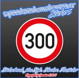 300 km/h JDM Style Sticker, Shocker Fun Aufkleber, Decal, Stickerbomb