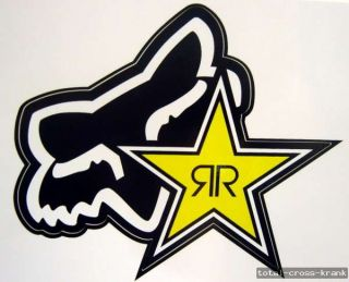 Fox Racing Aufkleber Sticker 15 x 13 cm Rockstar Energy Motocross MTB