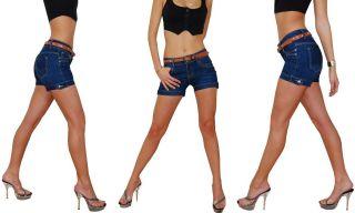 D8 Jeans Hot Pants Hotpants Mit Gürtel XS 34   XL 42