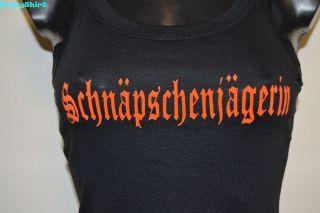 Spaghetti Träger Top Schnäpschenjägerin NEU Damen Shirt Auswahl