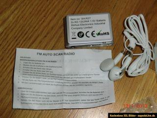 Cooles Mini Radio Reiseradio Taschenradio Miniradio Ohrhörer neu (OVP