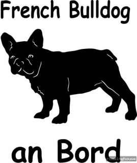 French Bulldog  Aufkleber   Autoaufkleber  Neu
