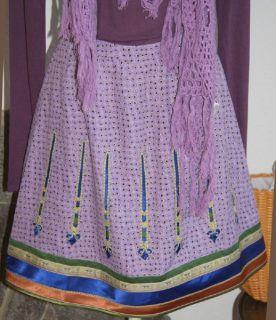 NOA NOA Rock Skirt Gr.L Seide Calender Silk Farbe Lilaton Dahlia