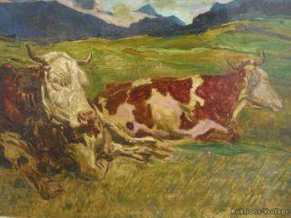 GRÜNE WEITE LANDSCHAFT ° EXPRESSIONIST MODERN ART 60ER JAHRE