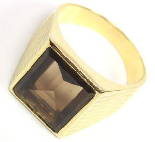 585 14kt Herrenring Herren Gold Ring Rauchtopas Topas Topasring