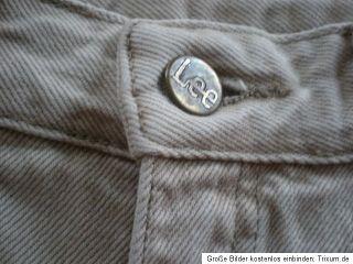 Damen Sommer Jeans Hose beige LEE 30 31 VIRGINIA Jeanshose 38