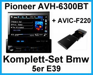 Komplett Set BMW 5er E39 mit PIONEER AVH 6300BT 1 DIN USB + AVIC F220