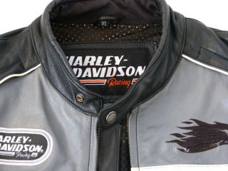 Org. Harley Davidson Screamin Eagle Custom Leder Jacke Gr. XL NEU