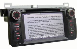DVD GPS NAVI AUTORADIO E46 318/ 320/ 325 BMW TV PIP