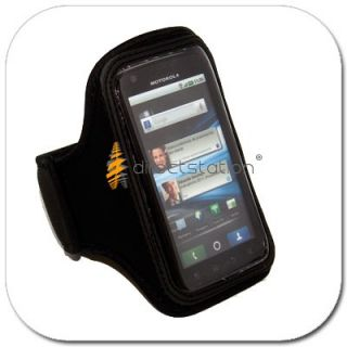 Black GYM Armband Case Cover Pouch Wallet Arm Band For Motorola Photon