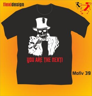 Fun T Shirt Disco Party Skull Gag Motiv 39