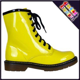 Stiefel Damen Vintage Retro Punk Gothic Reißverschluss Schnürer Boot