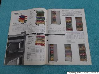 Mauser Ordnungskästen alter Prospekt Broschüre Katalog