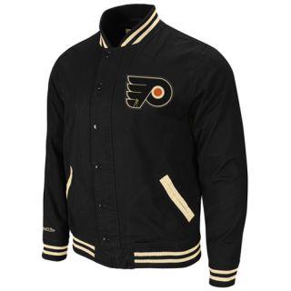 Mitchell & Ness Philadelphia Flyers Black Vintage Full Button Twill