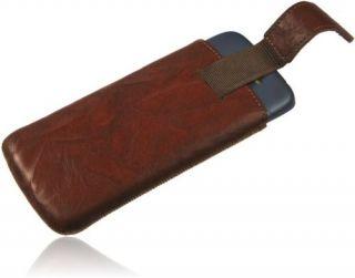 Burkley WASHED Leder Handytasche für Sony Ericsson Xperia Arc S Etui