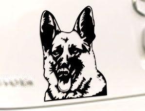 SCHÄFERHUND   German Shepherd Auto AUFKLEBER Sticker