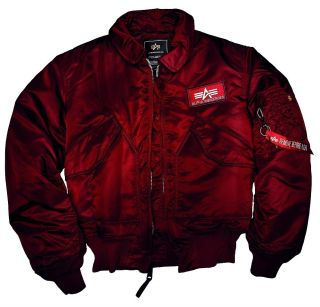 Alpha Industries CWU 45 Flight Jacket Rot Gr S M L XL XXL XXXL Bomber