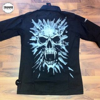 Queen of Darkness Hemd mit Totenkopf   Gothic Punk Visual Emo Rock WGT