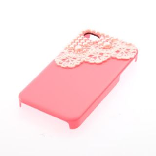 For iPhone 4 4S Cute Pearl Lace ice Cream Hard Back Case Cover Screen