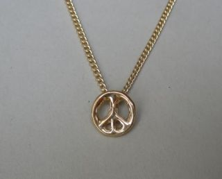 Make a wish Peace Kette filigran gold charm necklace