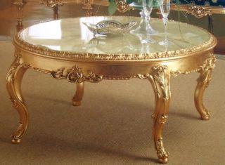 Vi0875 Tisch Couchtisch Beistelltisch gold 122x66 antik style Barock