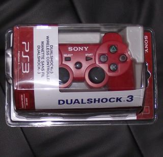 Red Wireless Bluetooth Controller for Sony PS3  URD01