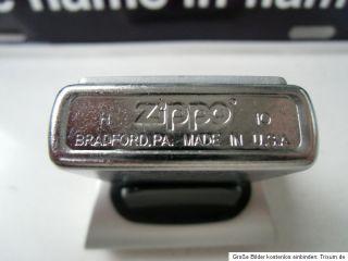 Siebieten auf ein wunderschönes original Zippo Feuerzeug mit Emblem