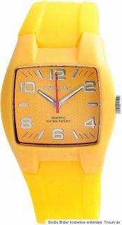 original Excellanc Silikon Uhr weiß pink rot blau Unisex Armbanduhr