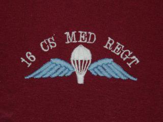 16 CS MEDICAL REGIMENT MED REGT MILITARY POLO SHIRT BRITISH ARMY