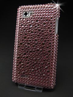 LG Optimus P880 4X HD Handyhülle Hülle Cover Case Strass Bling Rosa