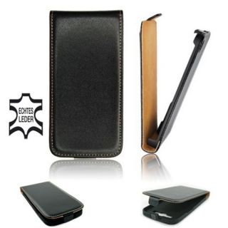 Echt Leder LG Optimus 4x HD P880 Hülle Etui Flip Case Tasche Slim