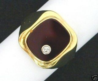 HERRENRING KARNEOL/ BRILLANT 585 GOLD MASSIV VK EUR 895,