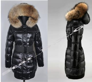 Star_d.x.g Neu Damen Daunenjacke Luxus 100% Echtem Pelz Mantel Jacken