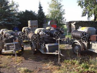 Baukompressor Sulzer Rotationsverdi chter auf Anhänger incl. Zub