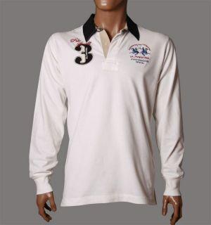La Martina Polo T Shirt Sweat langarm PROVEEDOR OFICIAL Gr. L