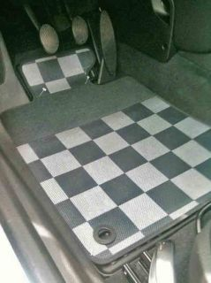 MINI ONE COOPER S FUSSMATTEN CHECKERED FLAG R58 COUPE R59 ROADSTER AB