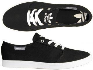 Adidas Schuhe Originals Plimsole 2 Canvas black/white schwarz 41,42,43