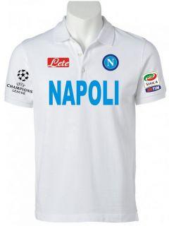 POLO NAPOLI CHAMPIONS LEAGUE t shirt maglietta CAVANI HAMSIK LAVEZZI