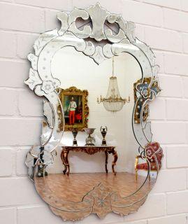 VENEZIANISCHER GLASSPIEGEL ca.102x72cm MURANO WANDSPIEGEL VENEZIA