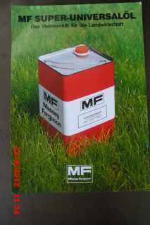 Prospekt u.Datenblatt Massey Ferguson MF Universalöl