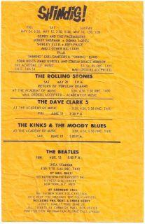 BEATLES ROLLING STONES Signed 1965 New York Concert HANDBILL Autograph