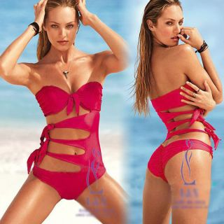 Women Ladies Sexy One Piece Hot Pink Padded Swimwear Swimsuit Trikini