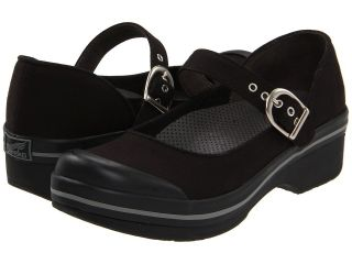 Dansko Womens Valerie Canvas Fabric Closed Back Clogs Black
