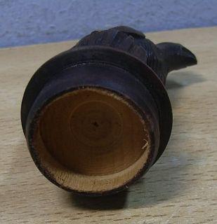 Vintage Wood Carved Bottle Stopper Wood Grouse #AH
