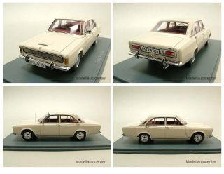 Ford P7a 20M 1968 weiß, Modellauto 143 / Neo Scale Models