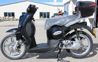 Benelli Pepe Motorroller Schwarz Retroroller 50ccm 16 Großradroller