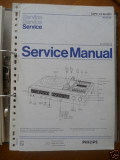 Service Manual Philips TAPC 22 AH 901 HiFi Sys,ORIGINAL