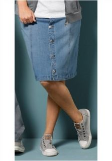 Neu Jeansrock Rock Röcke Jeans 4wards bleached blue denim Gr. 54