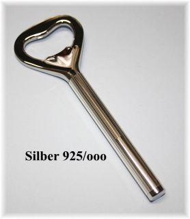 Kapselheber Hülse Silber 925, Streifendekor, Gravur gratis NEU