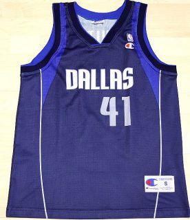 NEUW Champion Nowitzki Gr S SZ 36 Dallas NBA Basketball Kinder Trikot